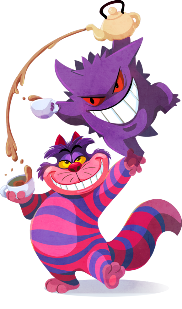 The Cheshire Cat & Gengar