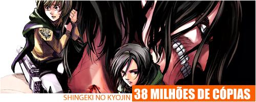 Mangá Shingeki no Kyojin tem mais de 38 milhões de cópias no mundo Shingekinovenda