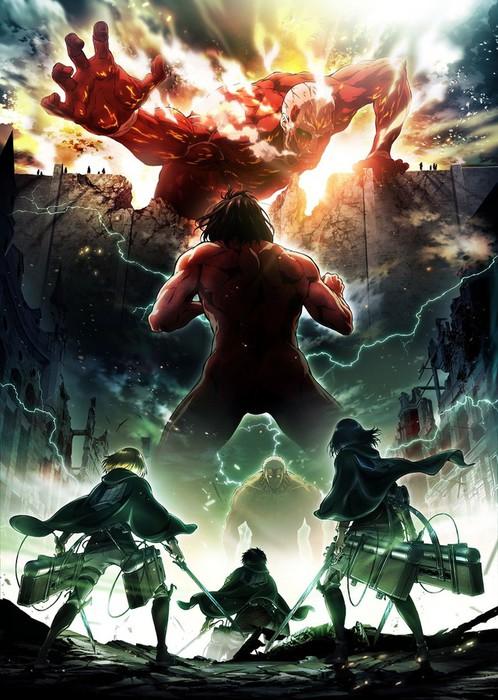 titãs shingeki segunda temporada visual poster divulgação