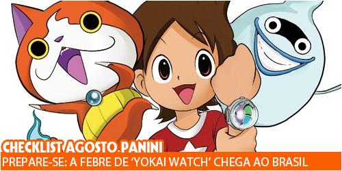 checklist agosto panini yokai watch
